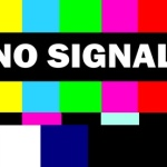 retro tv test pattern with no signal message